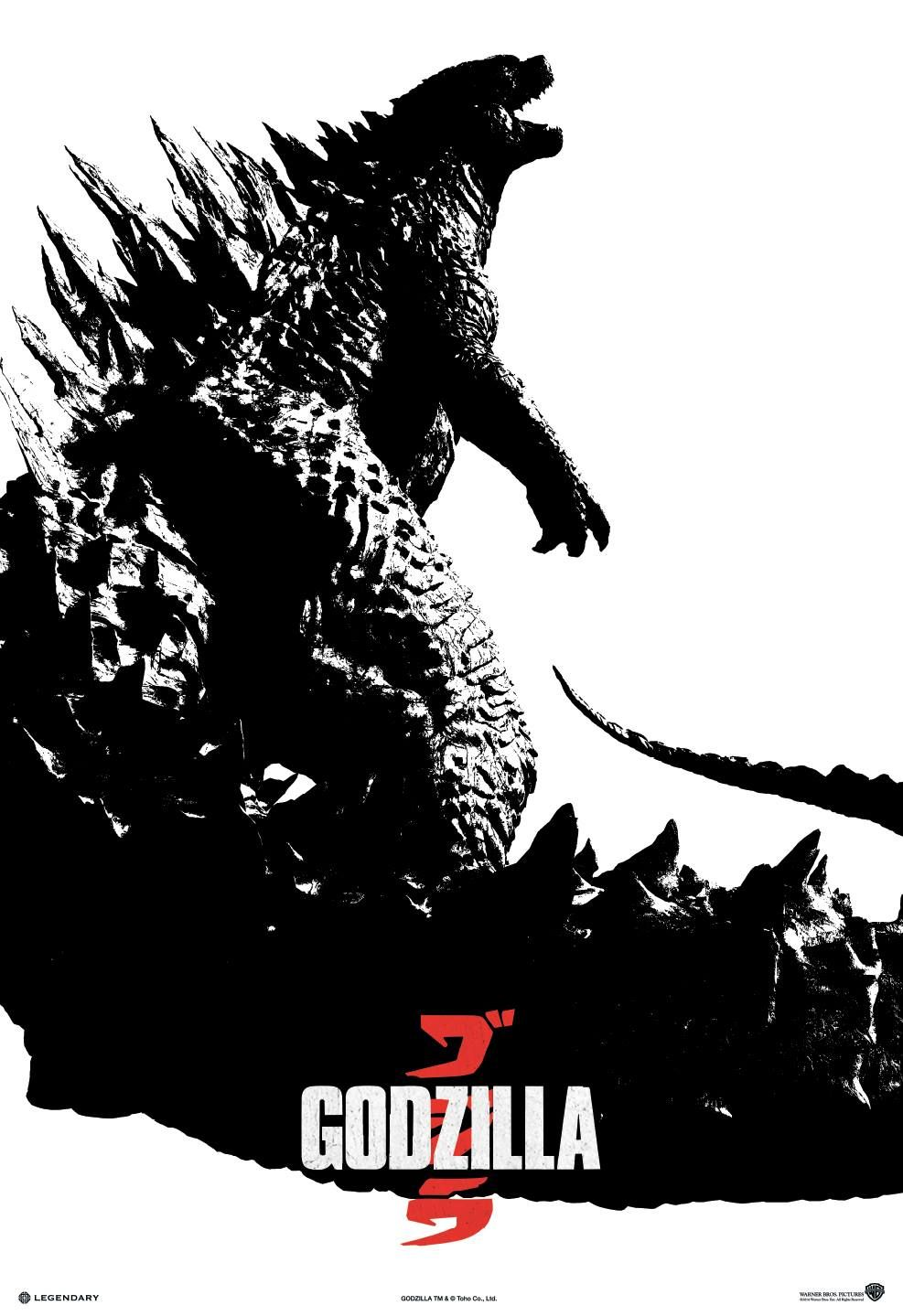 Black-and-White-Godzilla-2014-Poster