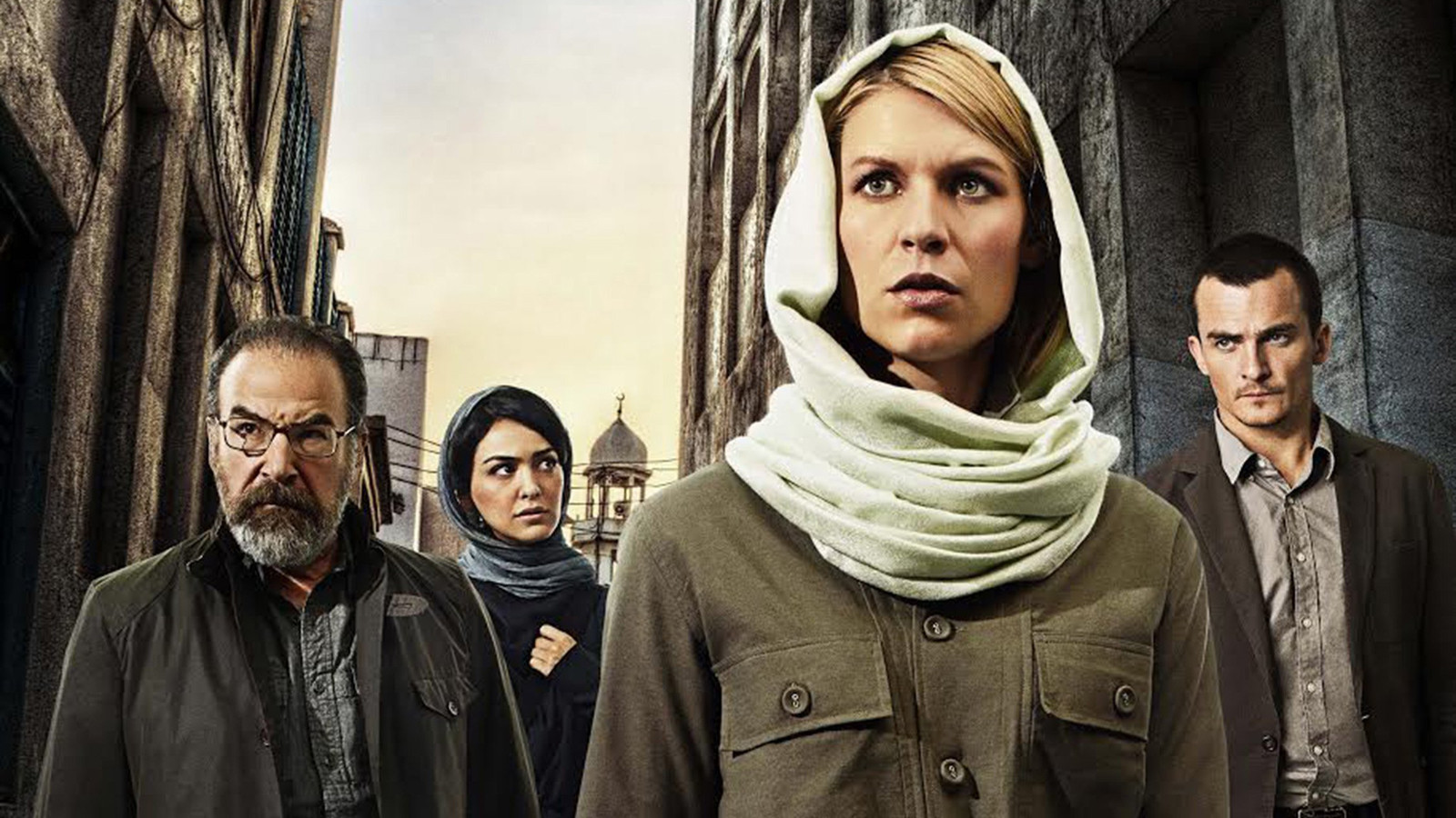 """From left, Mandy Patinkin, Nazanin Boniadi, Claire Danes and Rupert Friend costar in Showtime's """"Homeland,"""" returning for its fourth season on Sunday. (Jim Fiscus/Showtime/MCT) ** OUTS - ELSENT, FPG, TCN - OUTS **"""
