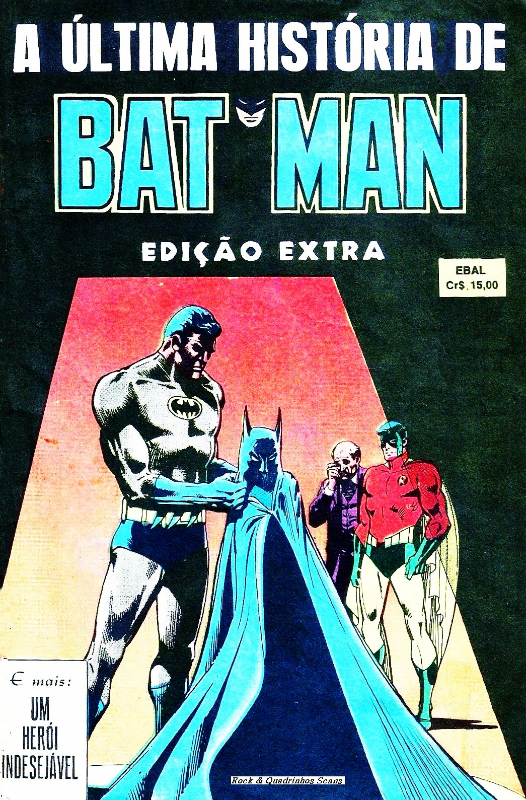 A ultima historia do batman - capa