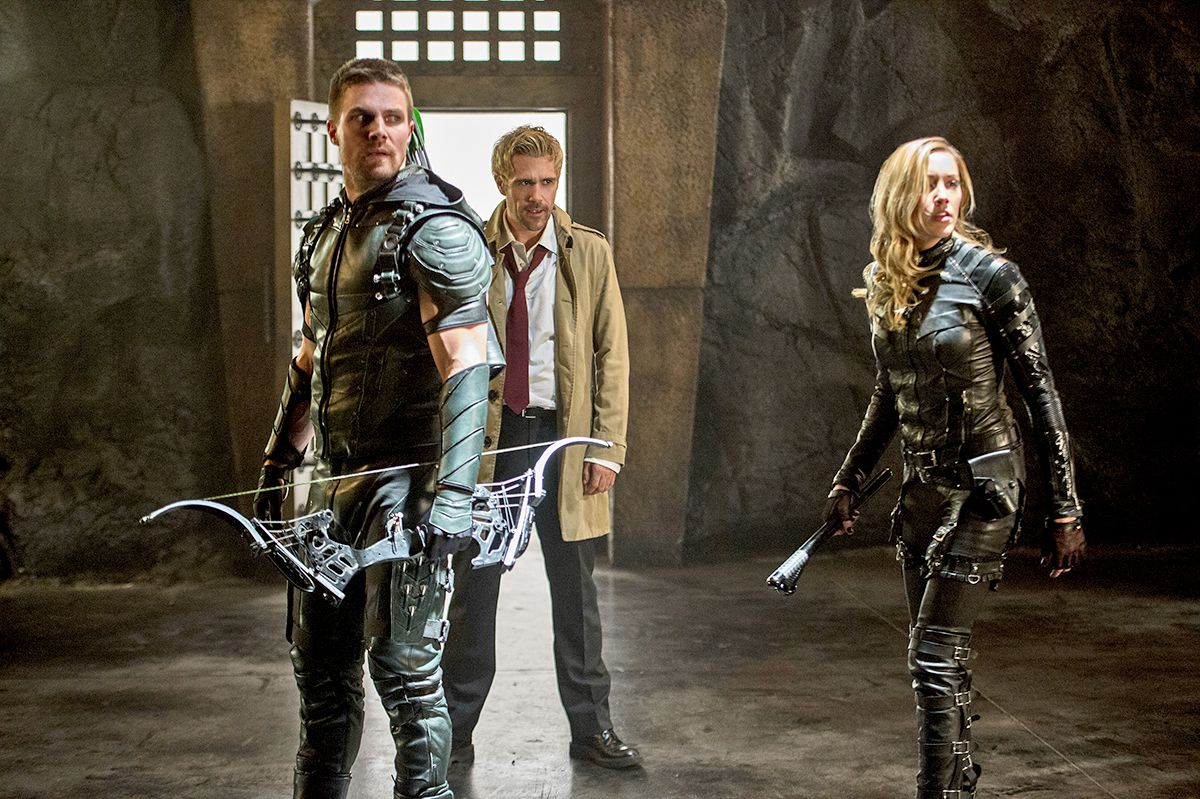 arrow, black canary and john constantine