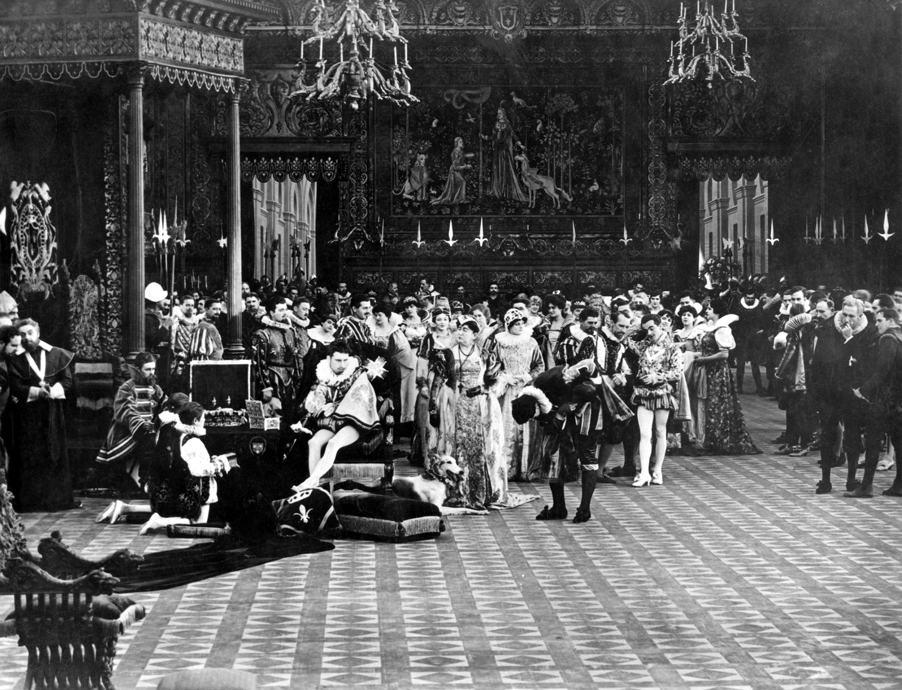 """Pictured here is a scene still from the 1916 film """"Intolerance."""" Restored by Nick & jane for Dr. Macro's High Quality Movie Scans Website: http:www.doctormacro.com. Enjoy!"""