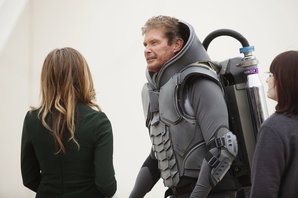 SHARKNADO: THE 4TH AWAKENS -- Pictured: David Hasselhoff as Gil Shepard -- (Photo by: Patrick Wymore/Syfy)